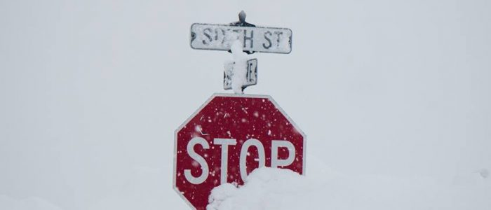 Crested Butte Snowpocalypse Stop Sign