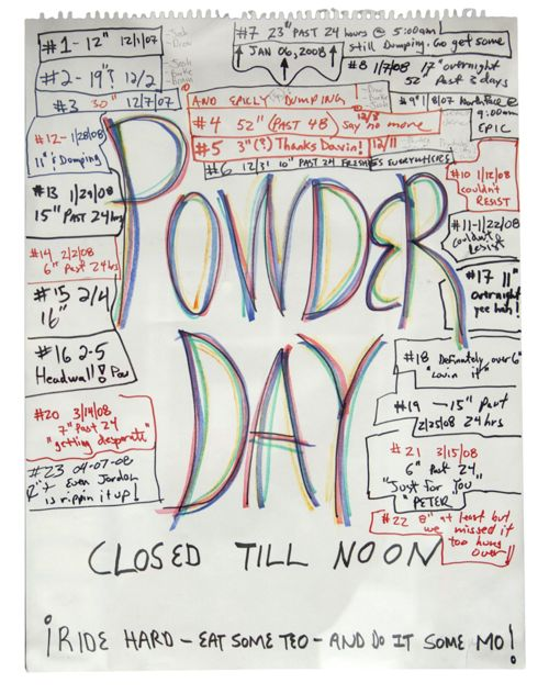 powder day sign crested butte real estate