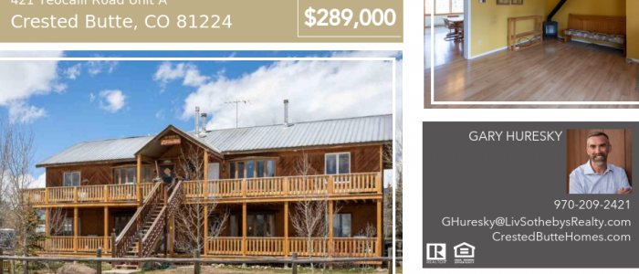 421 Teocalli Road Unit A Crested Butte