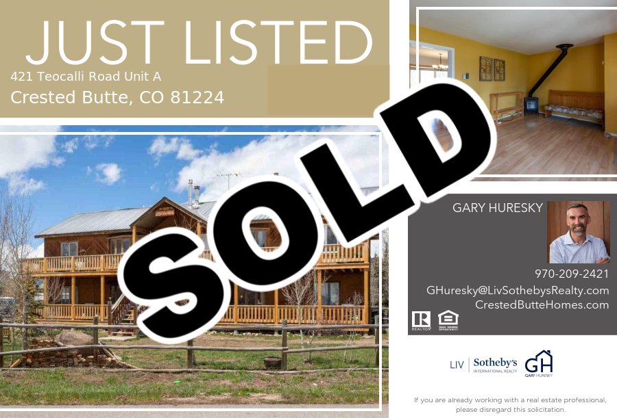 421 Teocalli Unit A Crested Butte SOLD