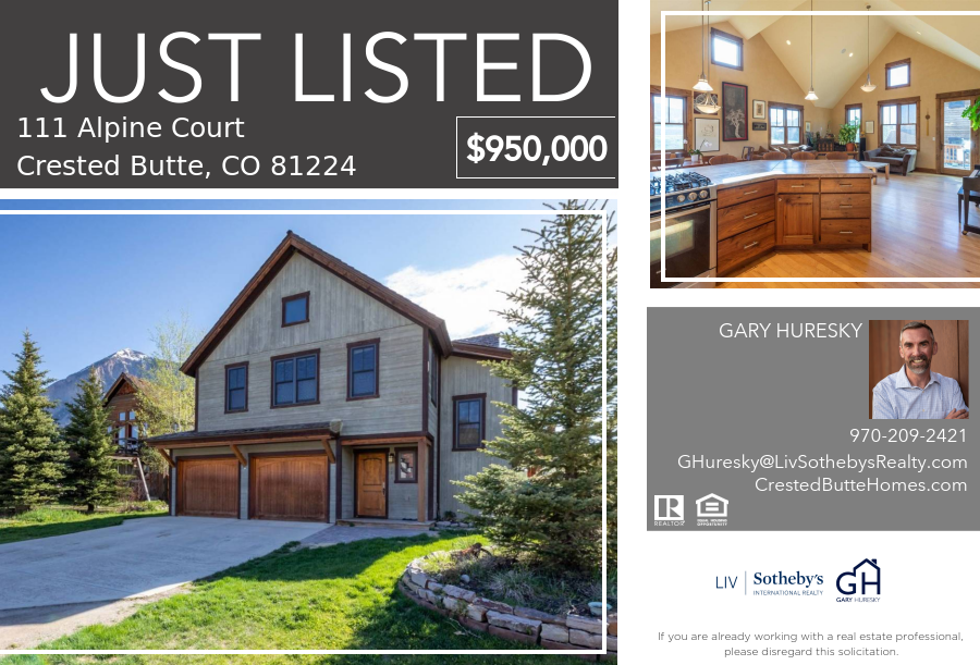 111 Alpine Court Crested Butte CO - Crested Butte Real Estate