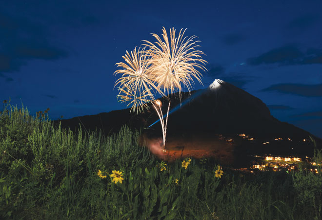 Crested Butte 4th of July fireworks