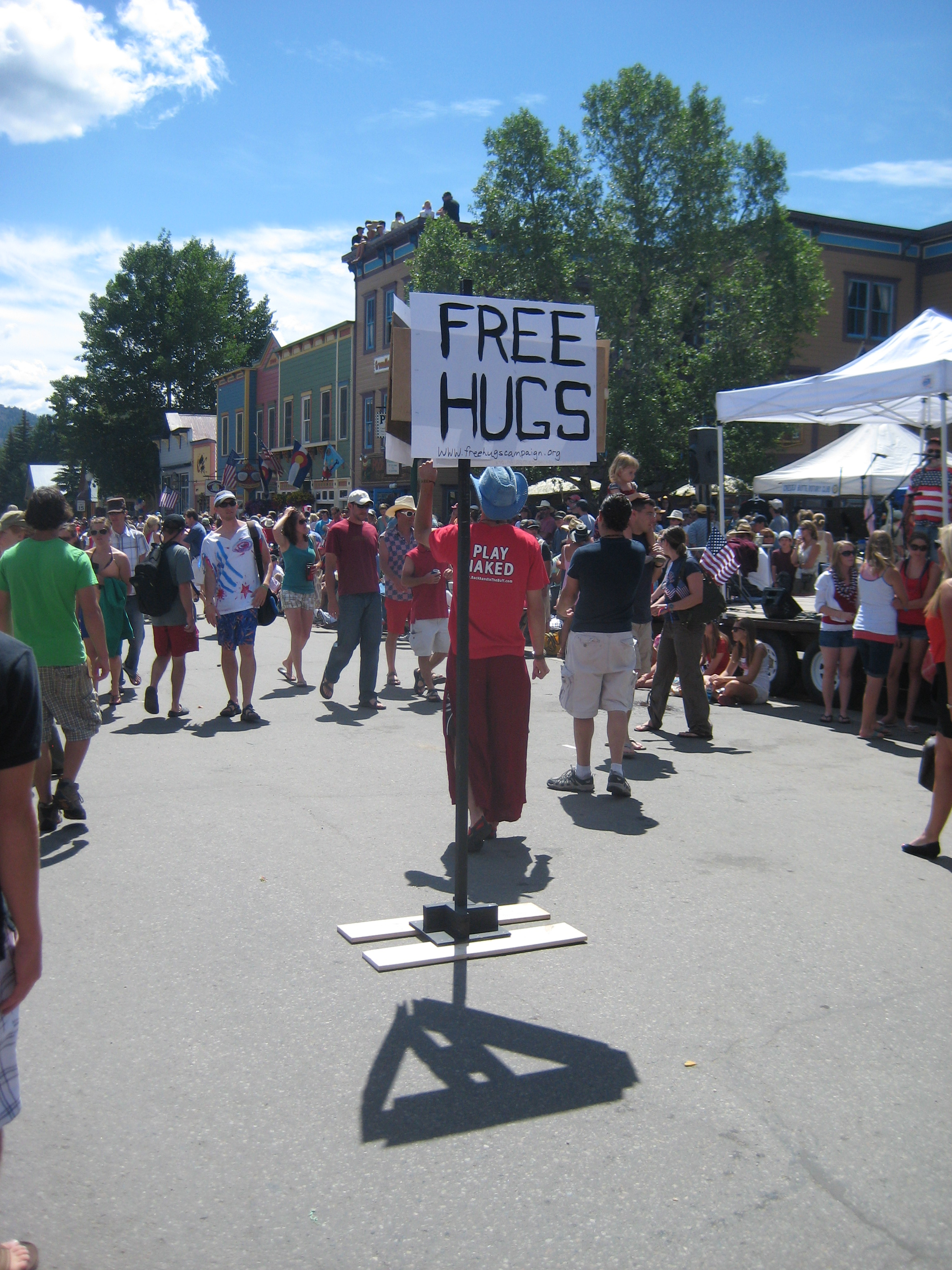 Crested Butte 4th of July Free Hugs