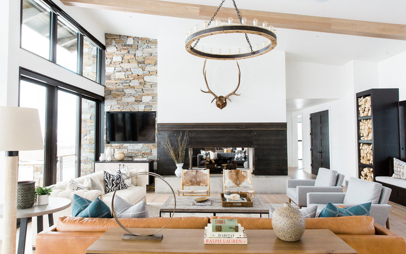 Crested Butte home staging living room