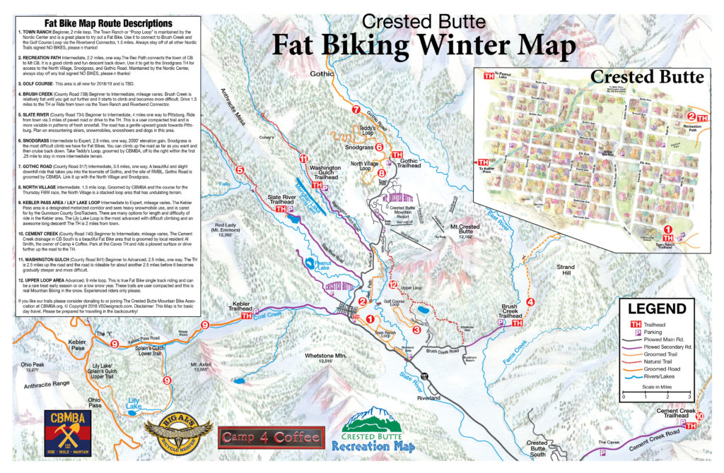 Crested Butte Fat Bike Map