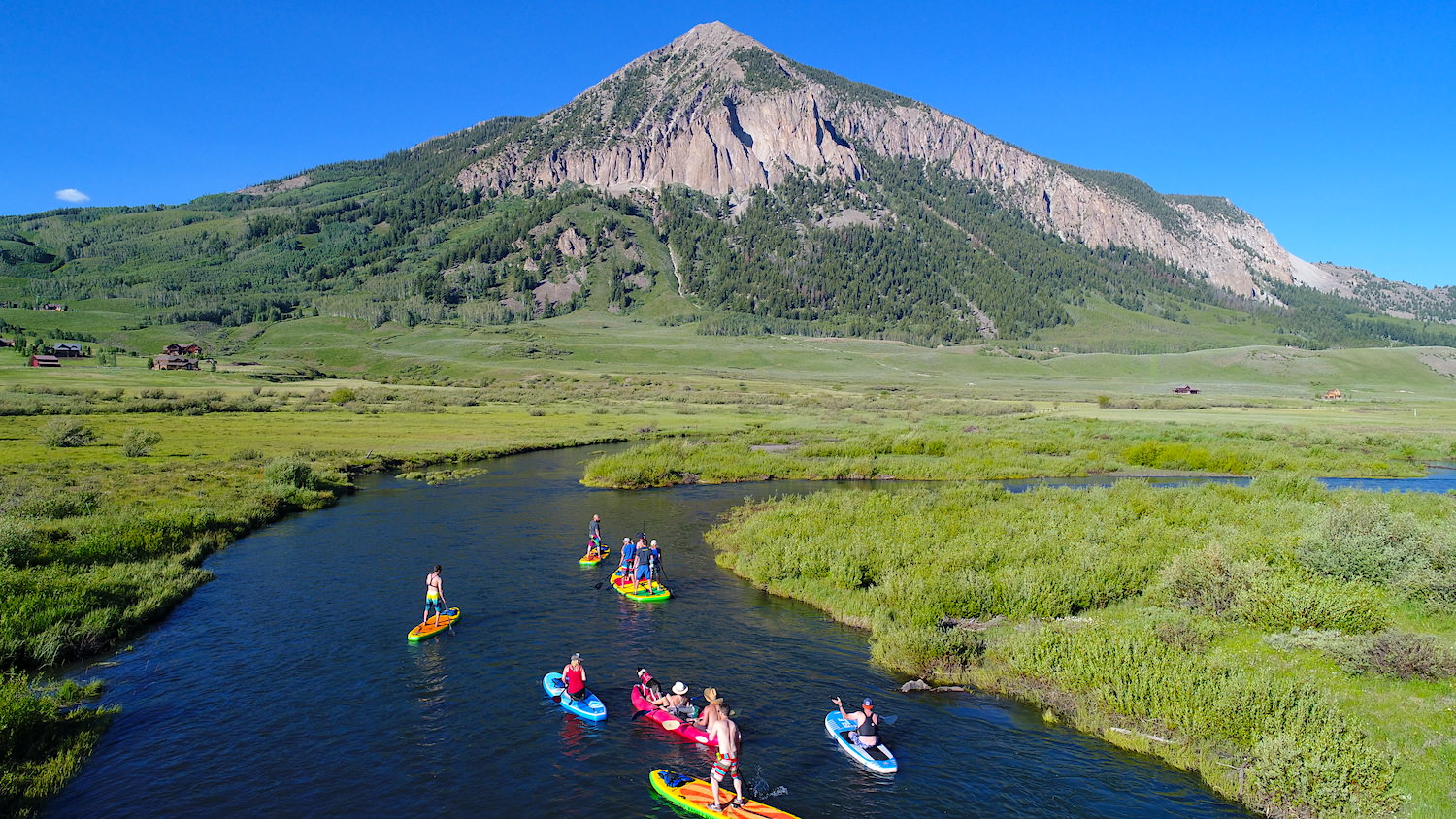 Crested Butte Stand Up Paddleboarding Social Distance Covid