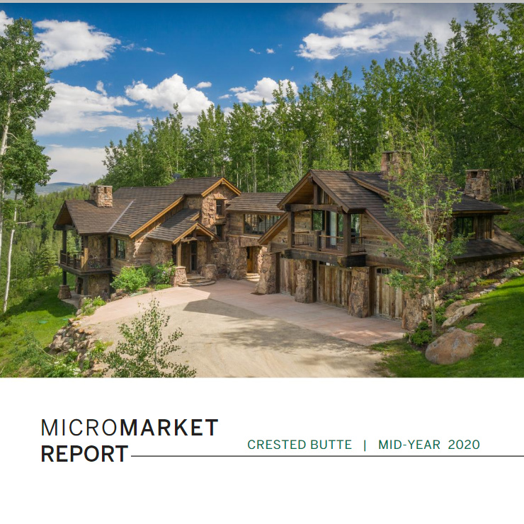 Crested Butte Real Estate micro market report Q2 2020