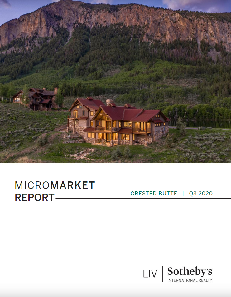 Crested Butte Real Estate MarketReport Q3 2020