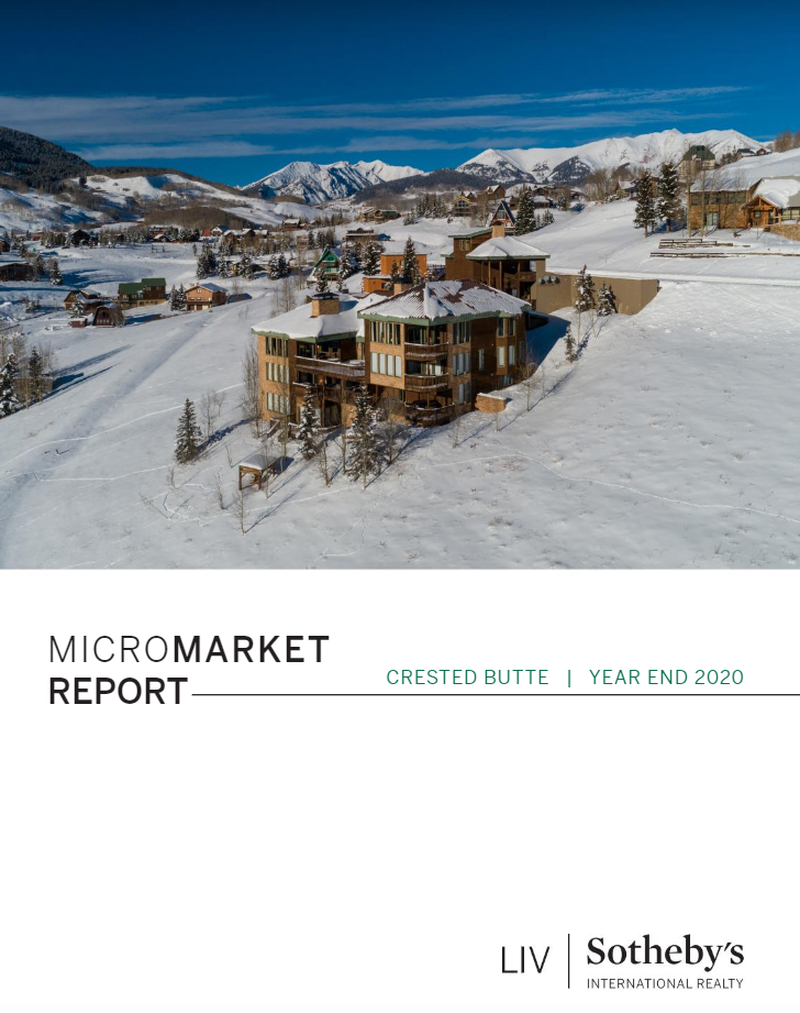 Crested Butte Real Estate Market Report Year End 2020